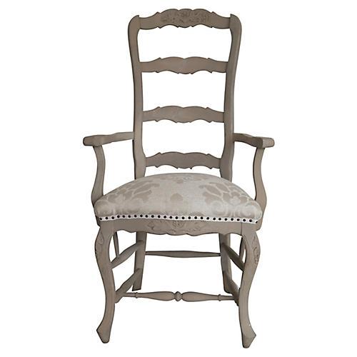 Italian Hand-Carved Armchair