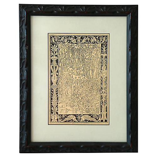 Custom Framed Gothic Print