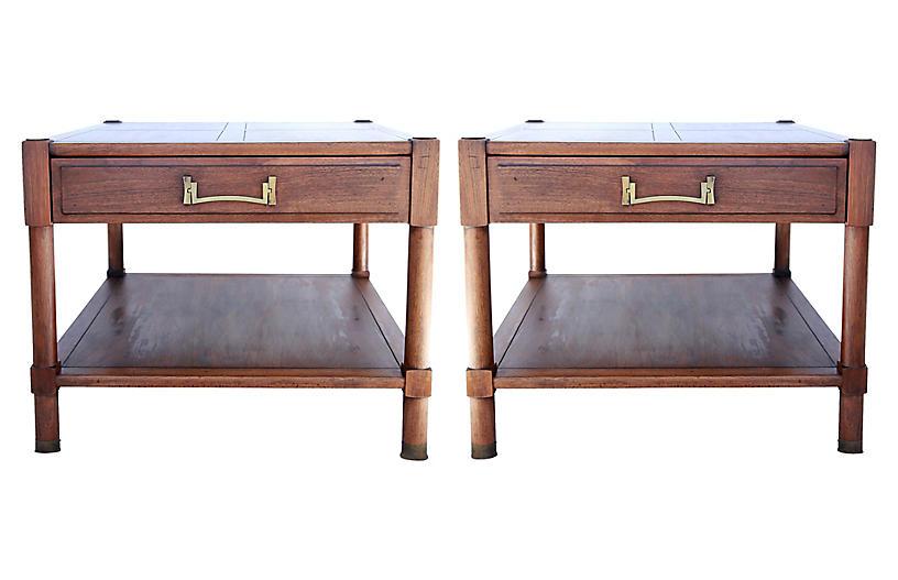 Midcentury Side Tables, Pair