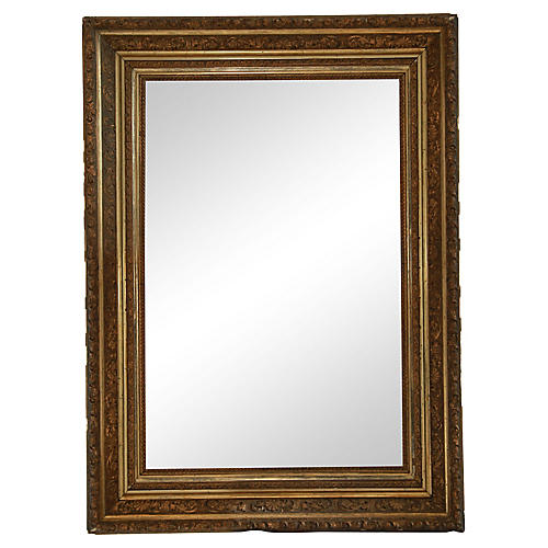 Antique Frame with Beveled Mirror