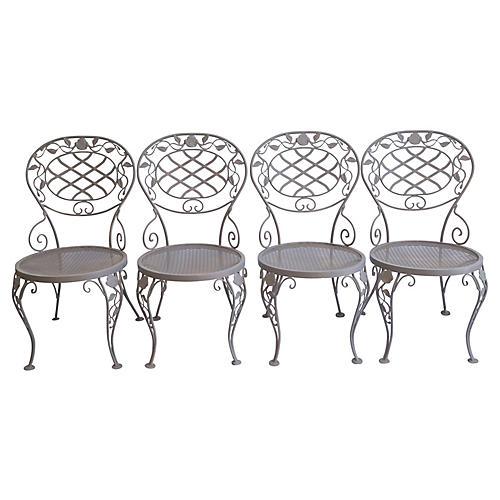 Midcentury Iron Chairs, Set/4