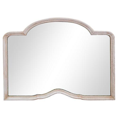 1950's Curvy Framed Dresser Mirror