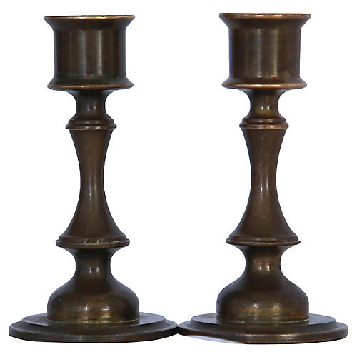Miniature Danish Candlesticks, pr.