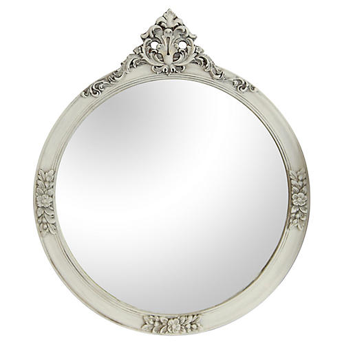 Round Mirror /Floral Decoration & Peplum