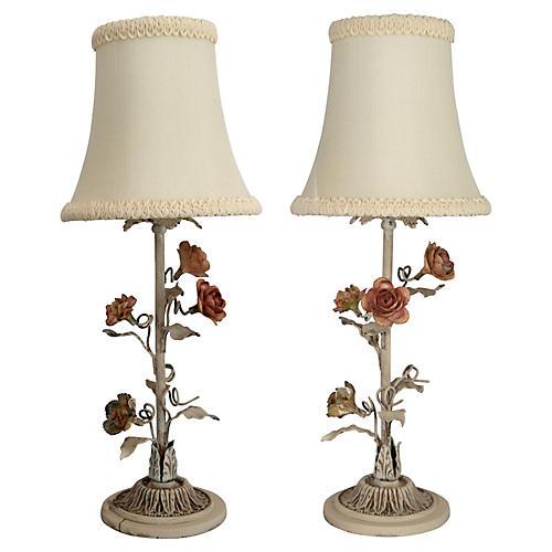 Italian Tole Boudoir Lamps/pr