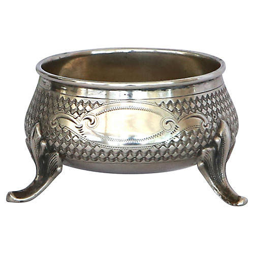 English Sterling Silver Salt Cellar