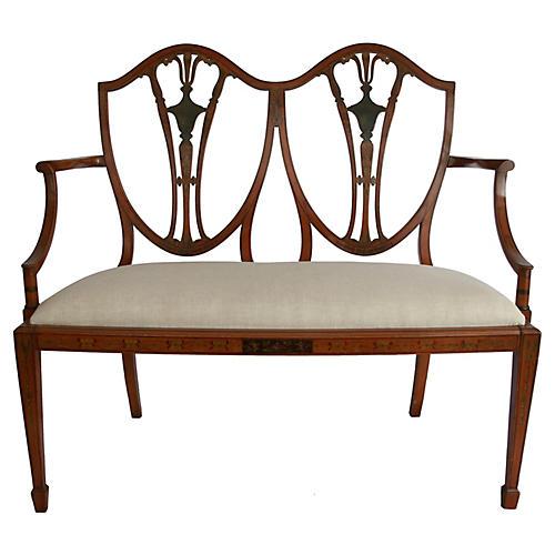 Antique Hepplewhite-Style Bench