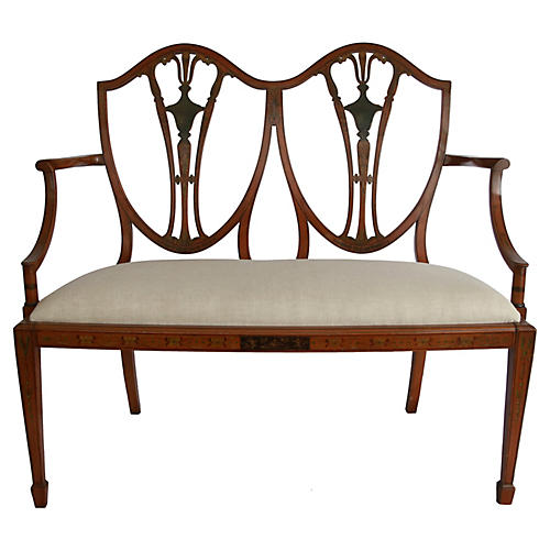 Antique Hepplewhite-Style Bench