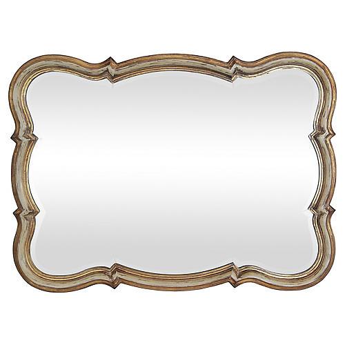 Provençal-Style Curvy Beveled Mirror