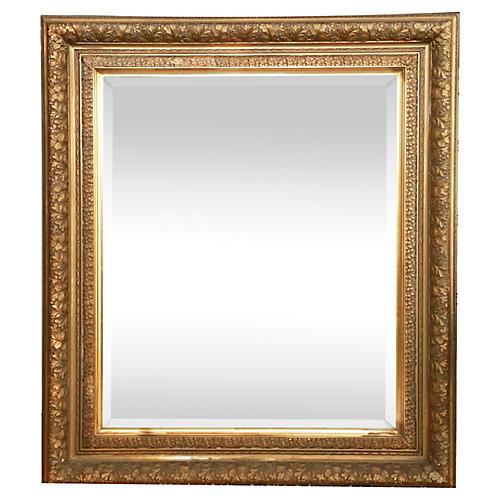 19th-C. Gilded Leaf Mirror