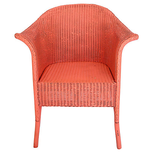 Coral Wicker Chair