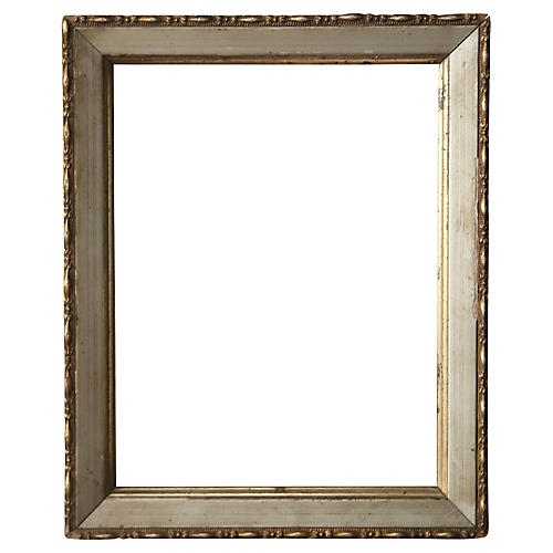 Small Platinum/Gold Leaf Mirror