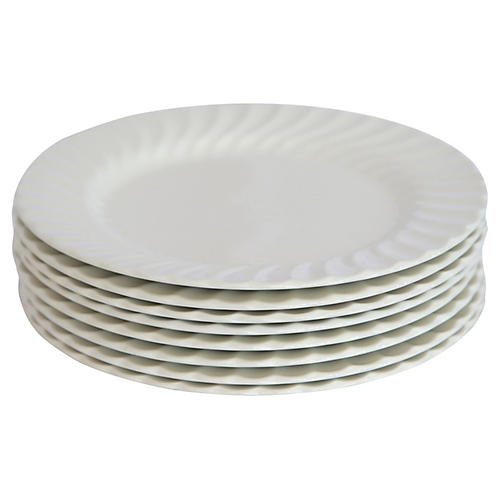 Ironstone Dinner Plates, Set of 8