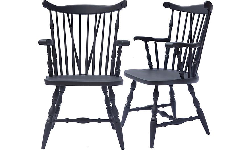 Captains Chair Ebony, Pair