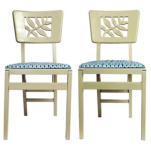 Folding Wood Chairs pr