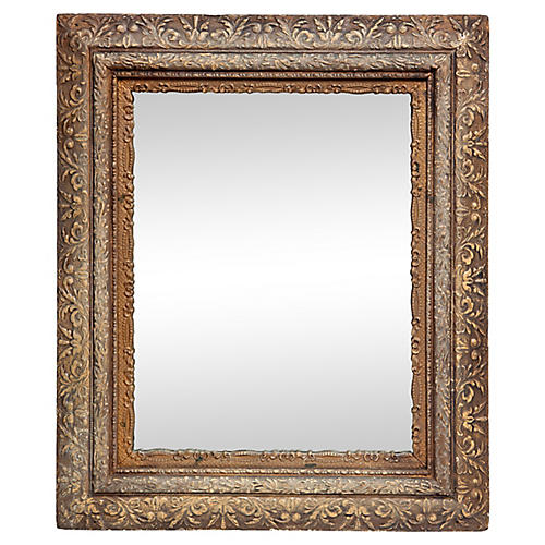 Victorian Mirror with Ornate Insert