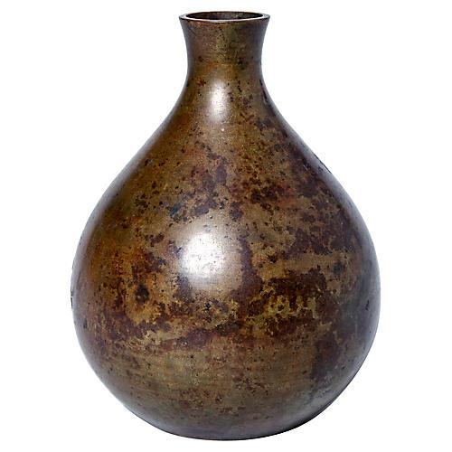 Japanese Bronze Bud Vase