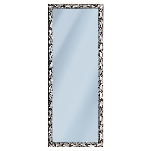 Italian Pewter Leaf Mirror