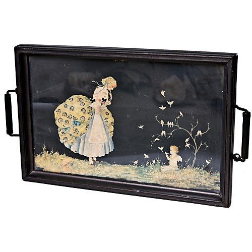Illustrated Serving Tray