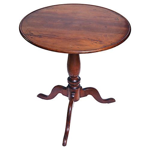 Antique Tilt Top Round Pedestal Table