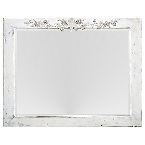 Shabby Chic Beveled Mirror/Roses