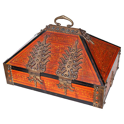 Red Asian Caligraphy Box