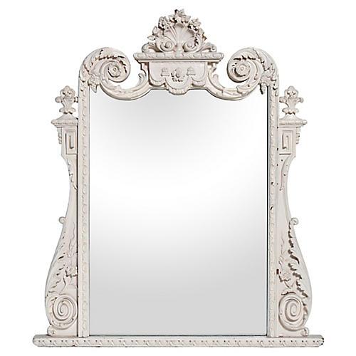 Ornate French Dresser Mirror