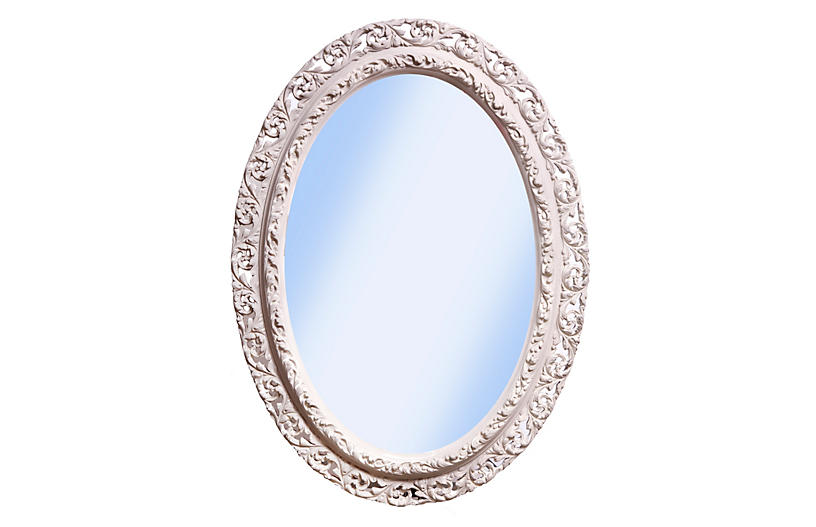 Antique French Revival Oval Mirror