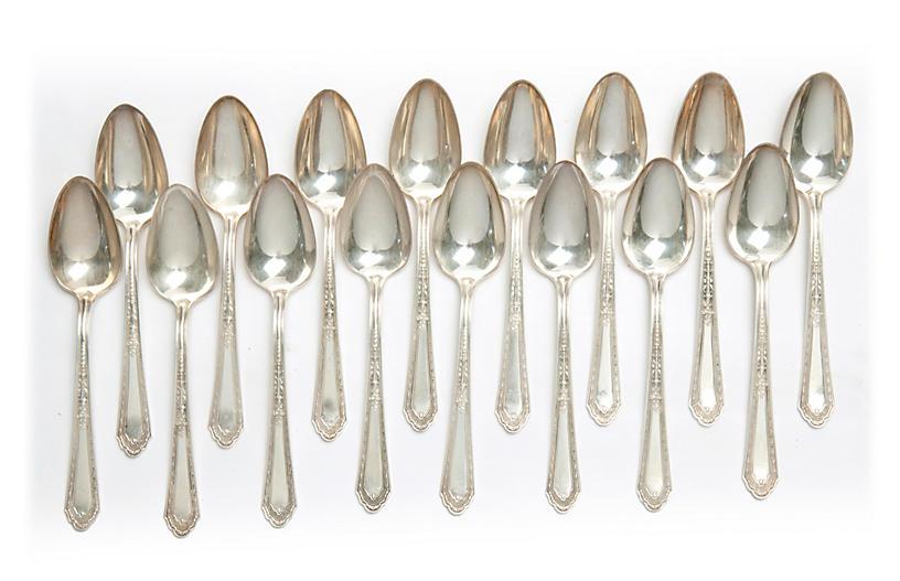 Silverplate Teaspoons Set/16