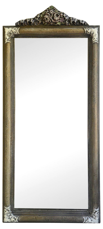 Giltwood Mirror w/ Rose Motif