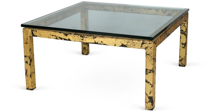Parsons-Style Metal Coffee Table