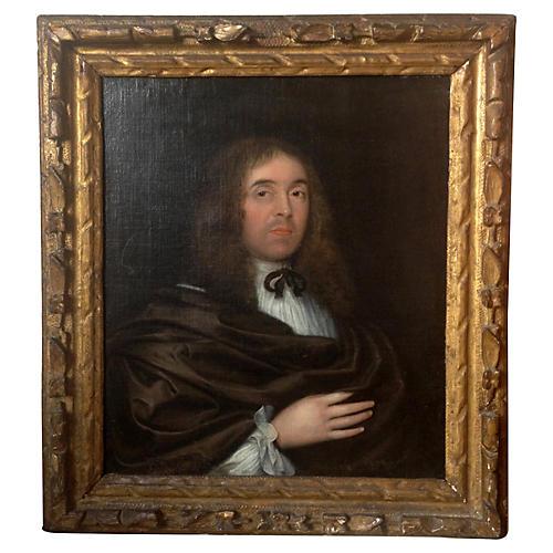 18th-C. Oil Portrait