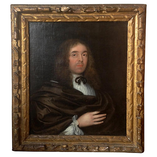 18th-C. Oil Portrait