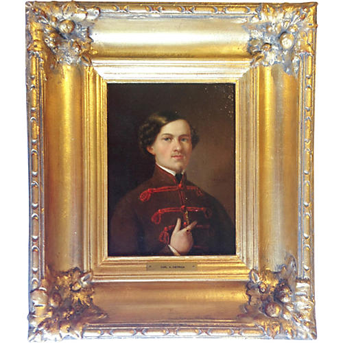 19th-C. Oil Portrait of a Gentleman