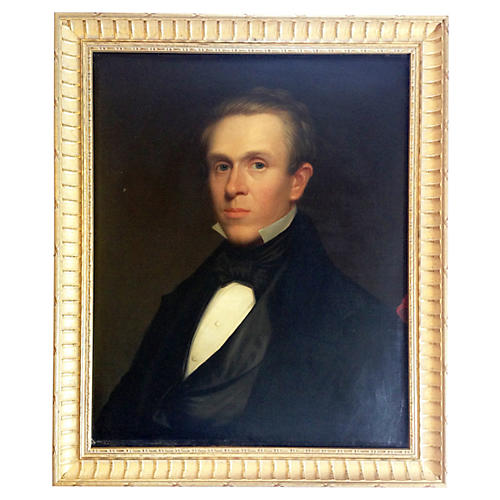 19th-C. Portrait of a Man in Tuxedo