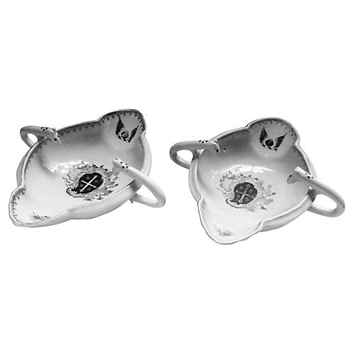 Famille Rose Sauce Boats, Pair
