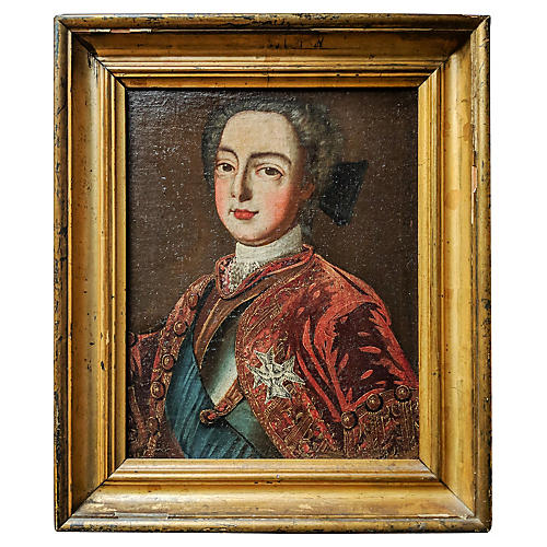 18th-C. French Nobleman Portrait