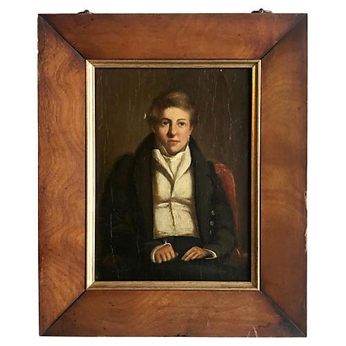 19th-C. British School Portrait