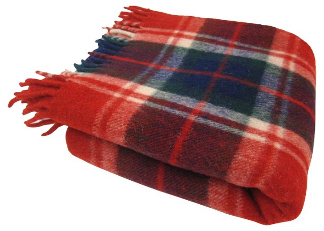 Red, Green & Blue Plaid Throw