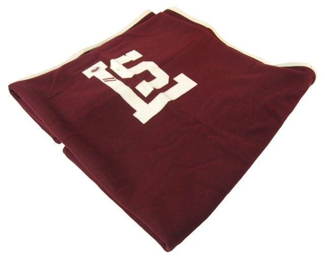 Dark Red & Cream Blanket