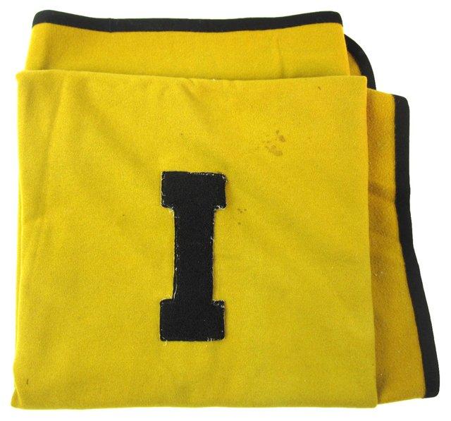 Yellow & Black University Blanket