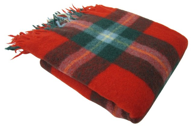 Red, Green & Yellow Throw