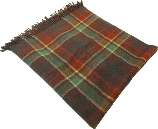 Brown  Plaid Throw