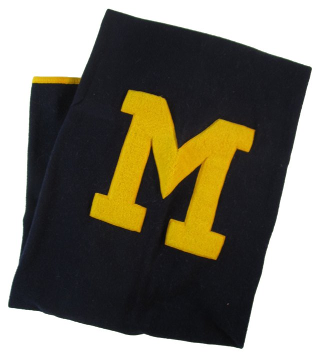 Michigan Letter Blanket