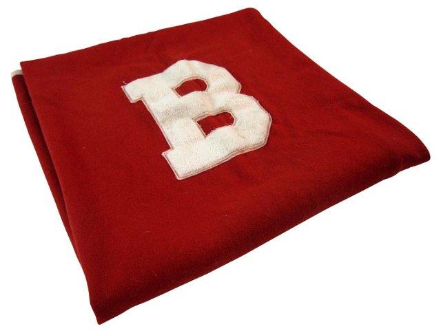 Red & White B Blanket