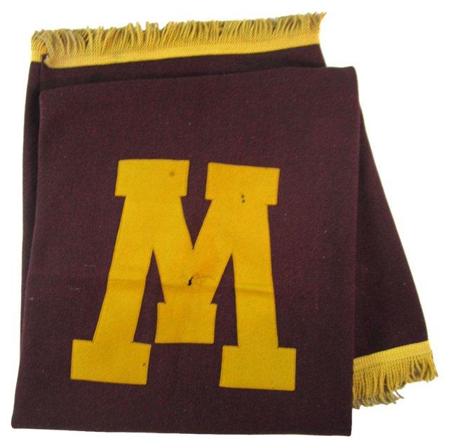 University Of Minnesota Wool Blanket