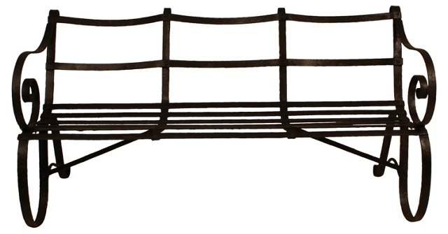 Iron  English Garden Bench