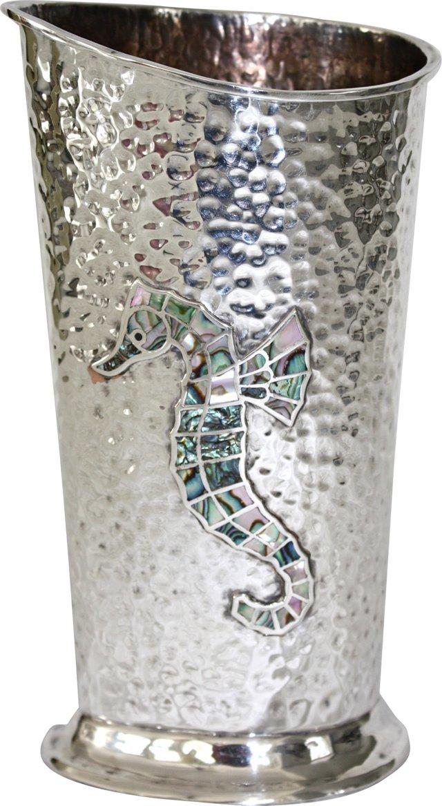 Sterling Silver Los Castillo Vase