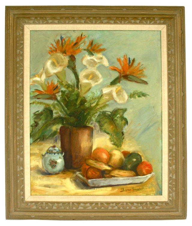 Floral & Fruit Still Life