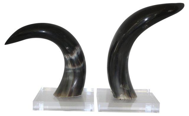 Horn Bookends